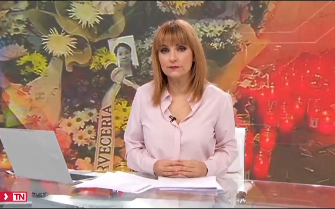 马德里电视台就近期几起凶杀案对诚信基金会进行的采访